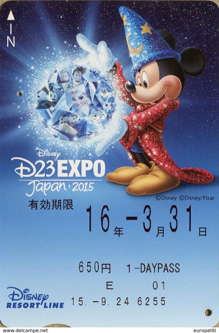 "Japan - Japanese Card DISNEY RESORT LINE.  Carte DISNEY RESORT LINE Du Japon.   ""Expo 2015."" - Disney"