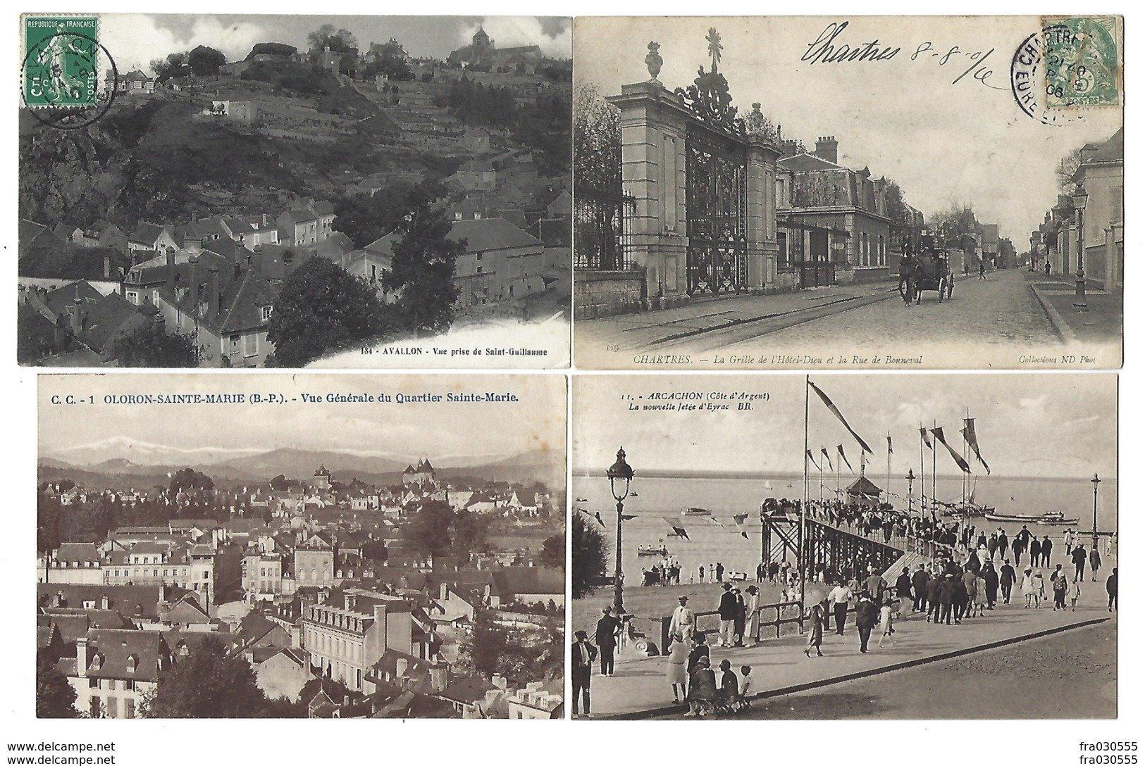FRANCE - Lot De 53 CPA - Pas De Paris, Nice, Lourdes... - Postkaarten