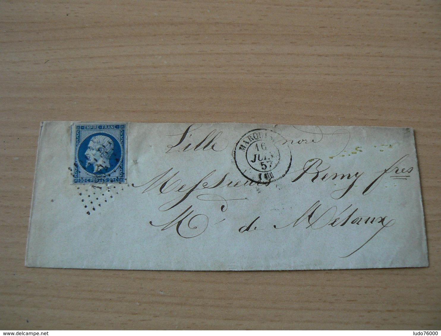CP 161 /  NAPOLEON N° 14 SUR LETTRE - 1853-1860 Napoléon III