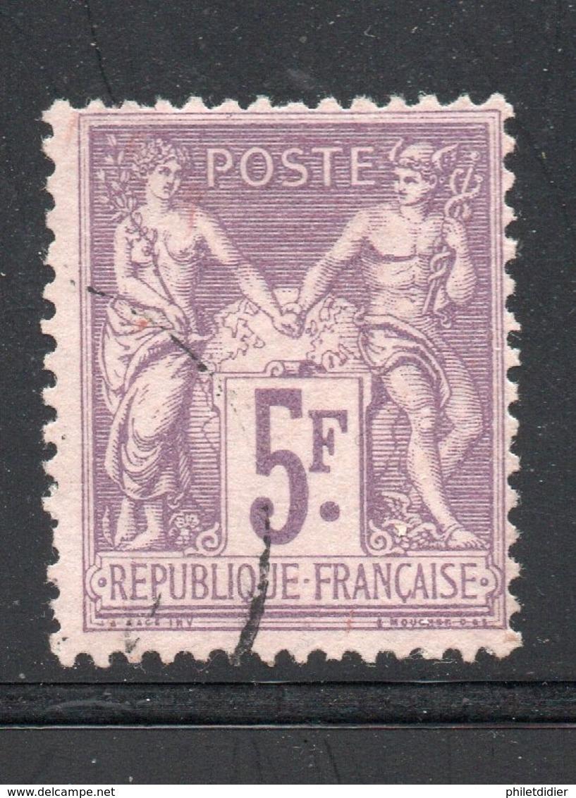 YT 95 5fr. Violet Sur Lilas - BEAU SANS PLI NI CLAIR - COTE 90 € - 1876-1898 Sage (Tipo II)