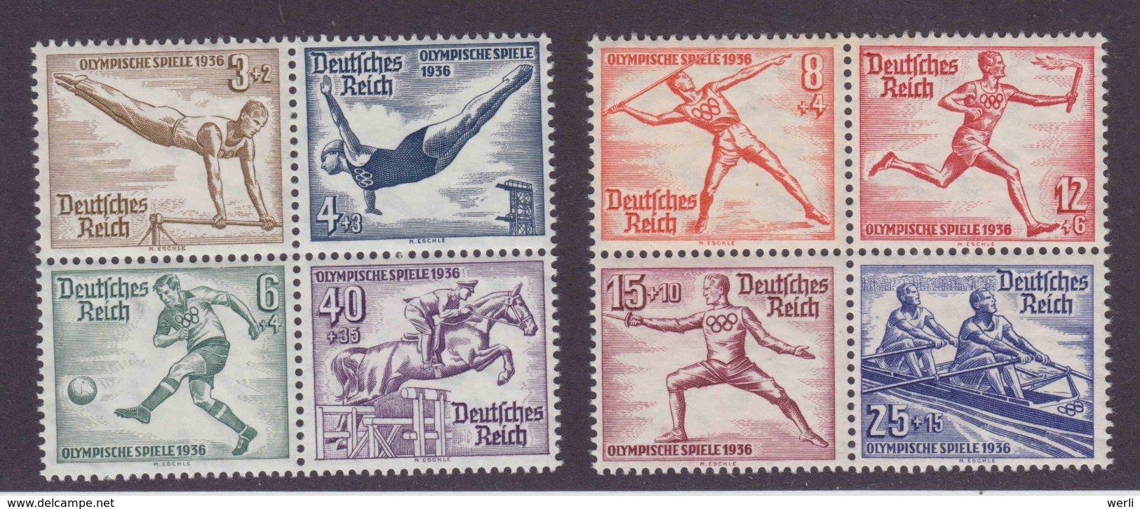 DR MiNr. 624-631 ** - Herzstücke Aus Olympia-Blockpaar - Deutschland
