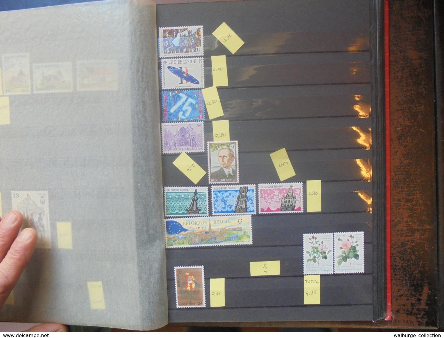 START 1 EURO ! BELGIQUE NEUVE** FACIALE EN 2 CLASSEURS (1 KILO 800) - Collections