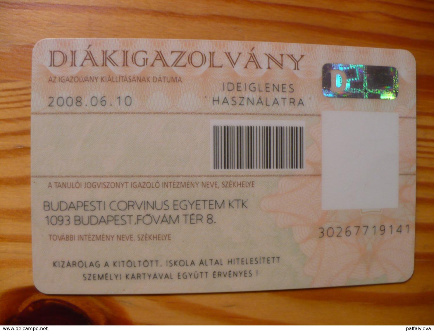 Student Identity Card Hungary - Temporary - Sonstige