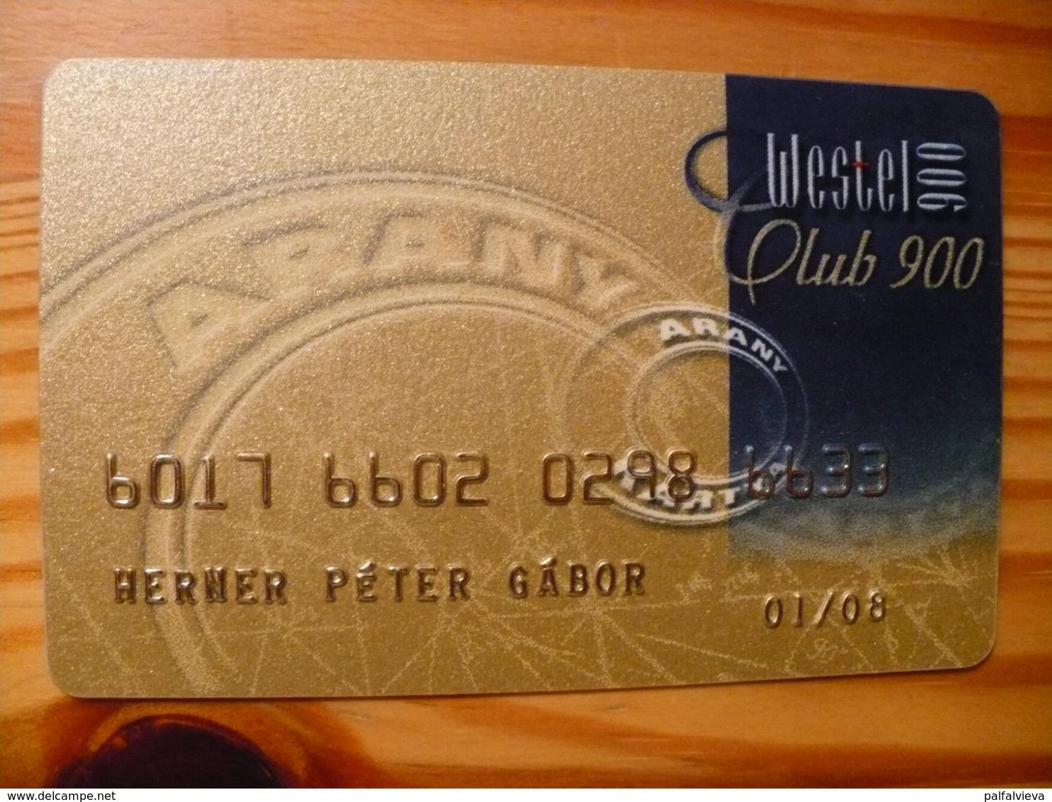 Westel 900 Club Card Hungary - Andere Sammlungen