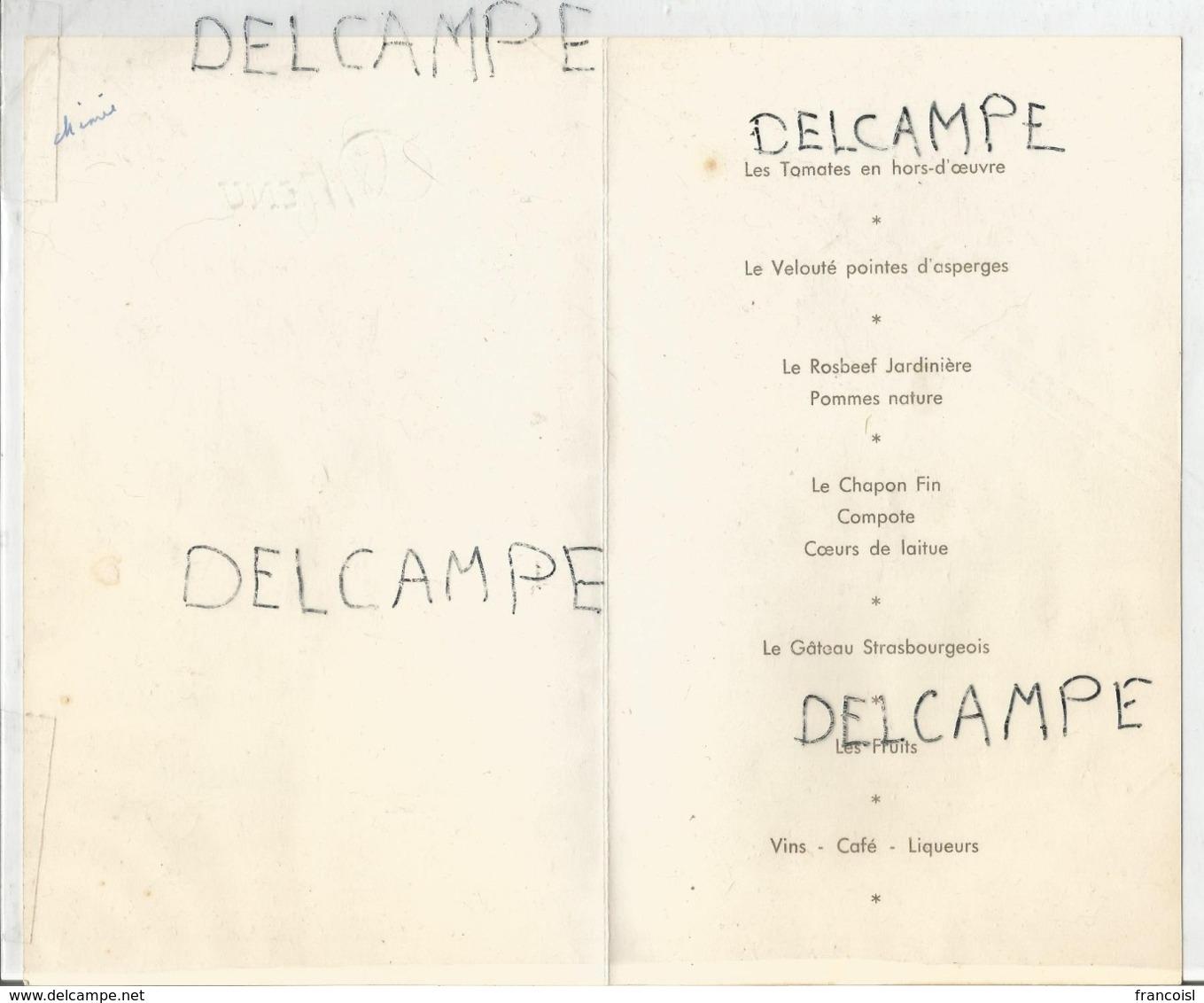 Dîner Offert à L'occasion Des Prémices De Noël Rixhon Le 7 Août 1960. - Menus