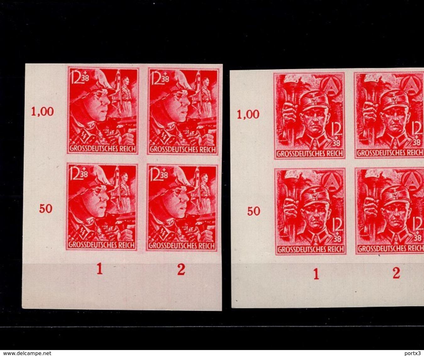 Deutsches Reich 909 - 910 U SS Und SA Im ER 4er Block MNH Postfrisch ** Neuf - Deutschland