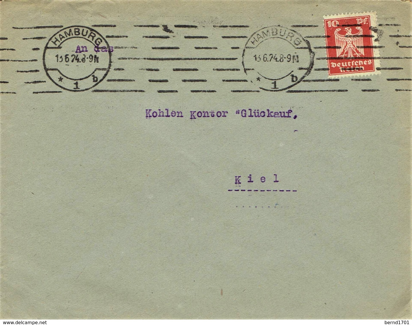 Deutsches Reich - Umschlag Echt Gelaufen / Cover Used (A973) - Briefe U. Dokumente