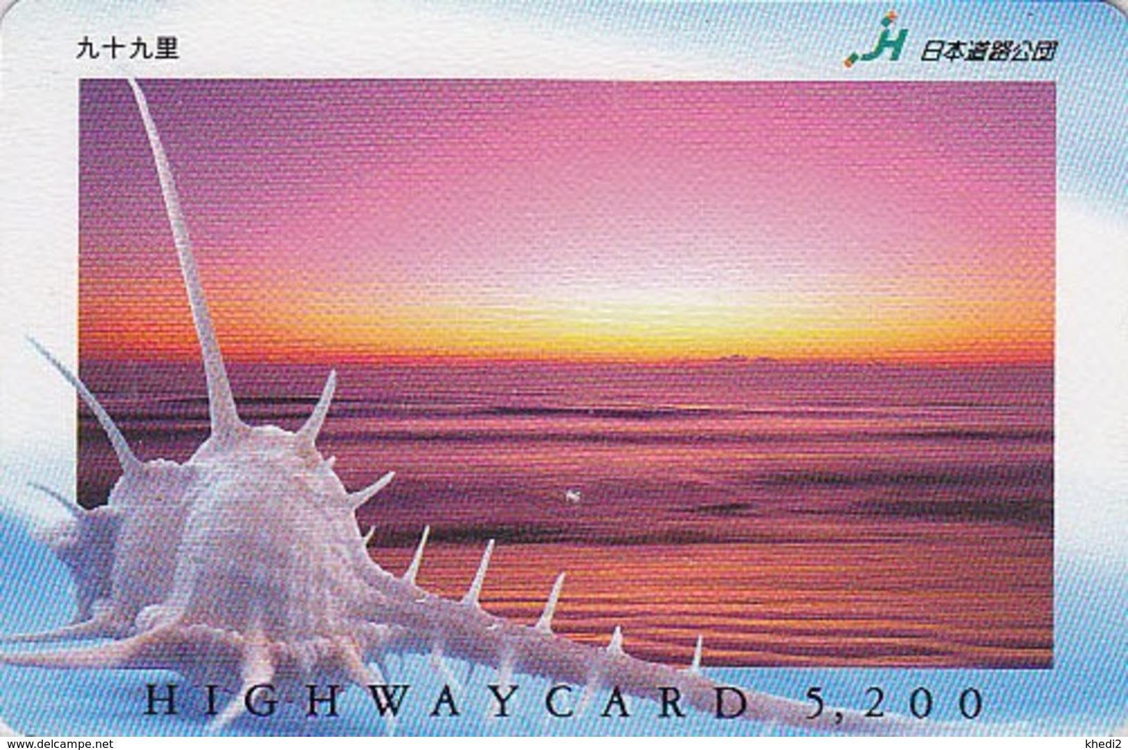 Carte Prépayée Japon - COQUILLAGE - SHELL & SUNSET Japan Prepaid Card - MUSCHEL  -  HW 516 - Japon