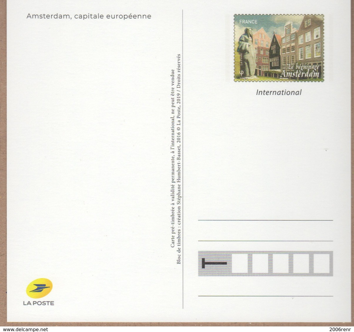 ENTIER POSTAL Capitales Europeennes AMSTERDAM. VOIR SCANS Recto Verso - Kartenbriefe