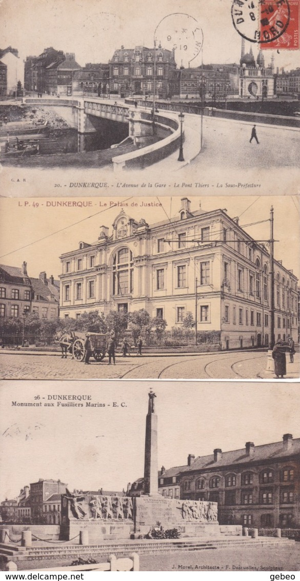 DUNKERQUE -- Lot 25 Cpa - Dunkerque
