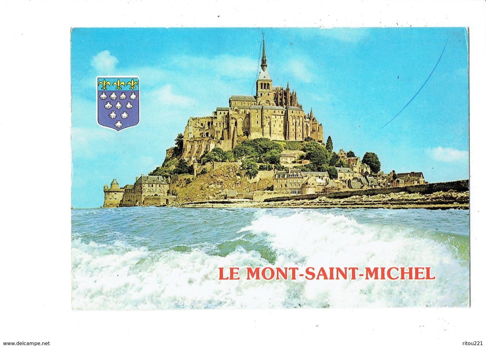Cpm - 50  - Mont St Michel -  Blason Coquille Saint Jacques - - Le Mont Saint Michel