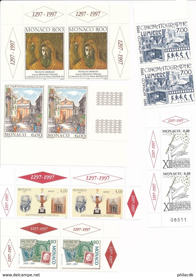 MONACO - BELLE COLLECTION DE 154 TIMBRES NEUFS** SANS CHARNIERE - FORTE VALEUR FACIALE - Monaco