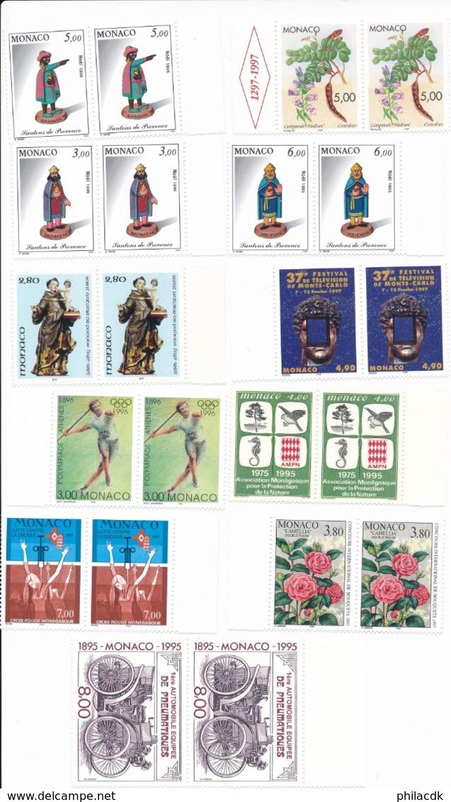 MONACO - BELLE COLLECTION DE 154 TIMBRES NEUFS** SANS CHARNIERE - FORTE VALEUR FACIALE - Collections, Lots & Séries