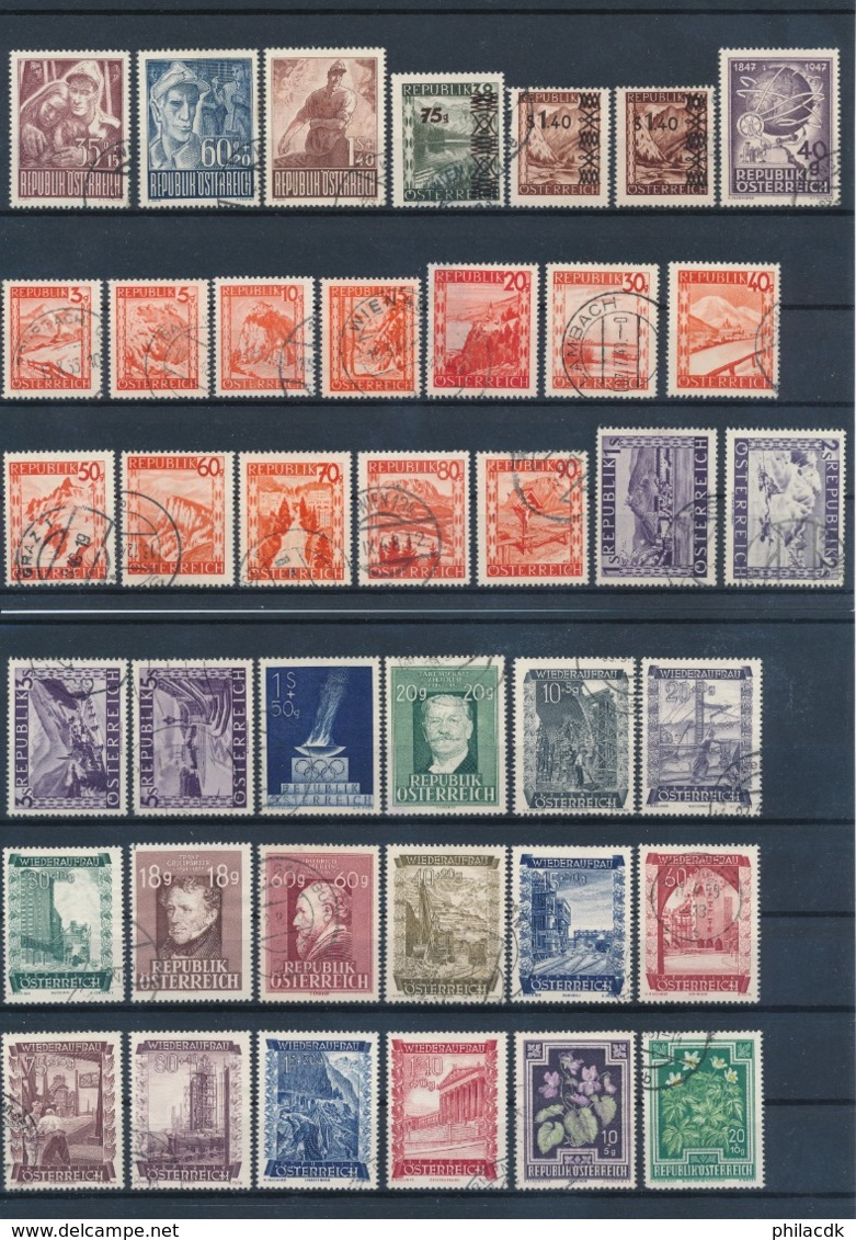 AUTRICHE - BELLE COLLECTION DE + DE 1250 TIMBRES POUR ETUDE - VOIR 28 SCANNS - Collections