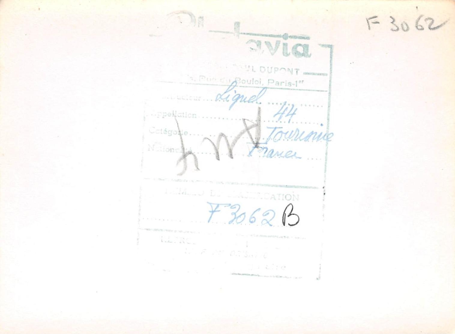 PHOTAVIA - S.F.C.A LIGNEL 44 CROSS COUNTRY DÉRIVÉ DU S.F.C.A TAUPIN - 1946 - Aviation