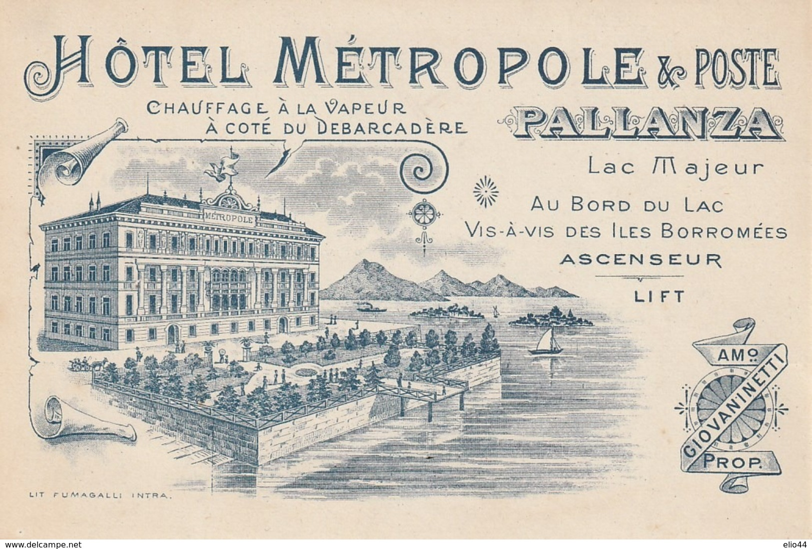 Piemonte - Verbania - Pallanza  Hotel  Metropole E Poste - - - Verbania
