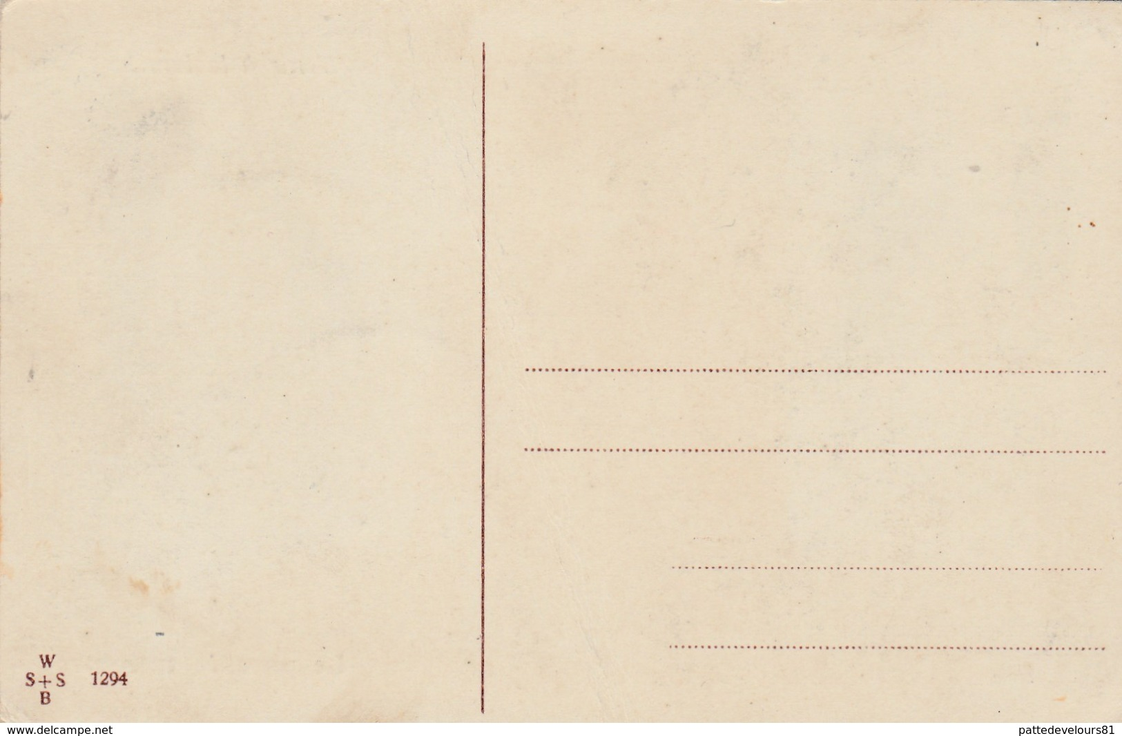 """CPA à Système Tenir à La Lumière """"Le Paradis Terrestre"""" Viennoise Vienne W S + S B N° 1294 Illustrateur  (2 Scans) - Contre La Lumière"""