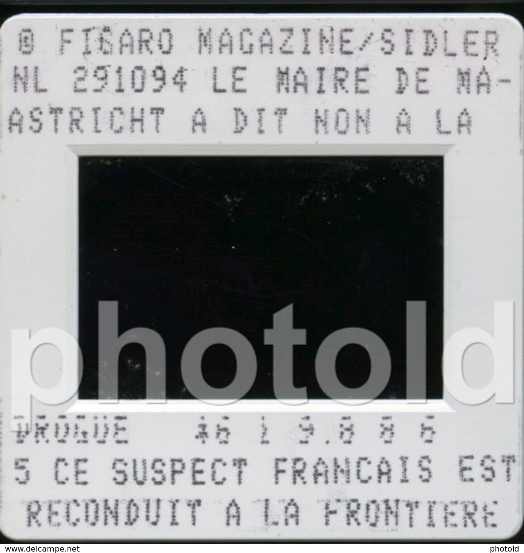 1994 OPEL POLICE KONINKLIJKE MARECHAAUSSEE HOLLAND NETHERLANDS 35mm PRESS DIAPOSITIVE SLIDE Not PHOTO No FOTO B4921 - Dias