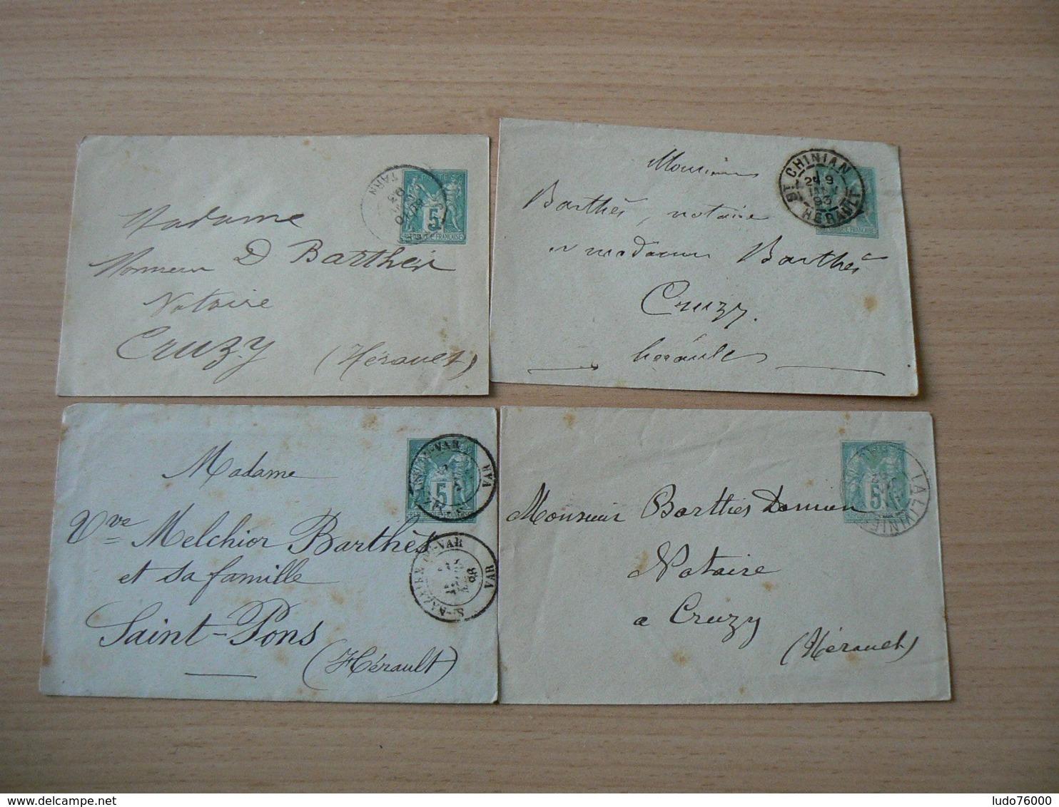 CP 163 /  SAGE / ENTIER POSTAUX LOT N° 75 - 1876-1898 Sage (Type II)