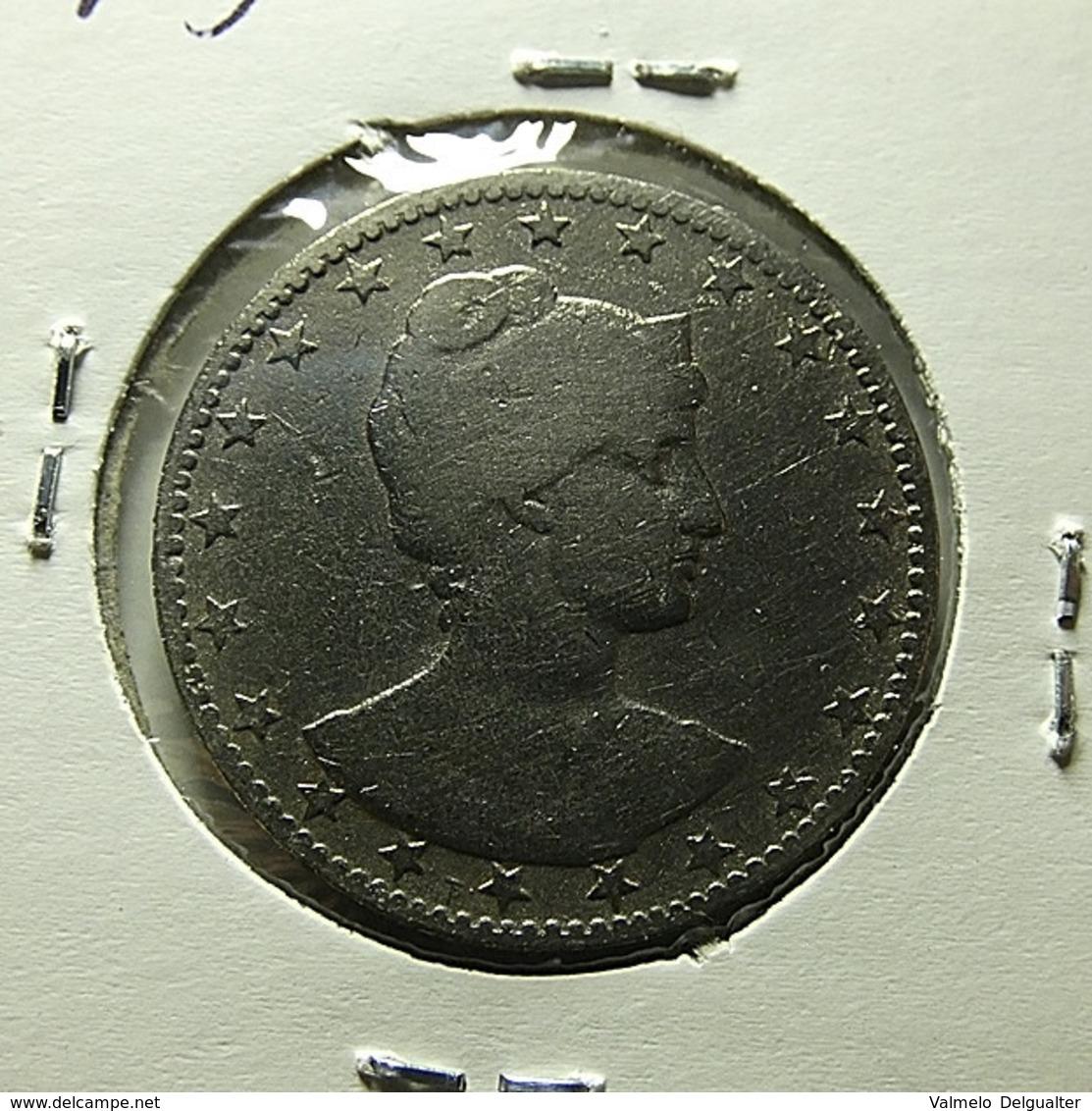 Brazil 200 Reis 1901 Varnished - Brazilië