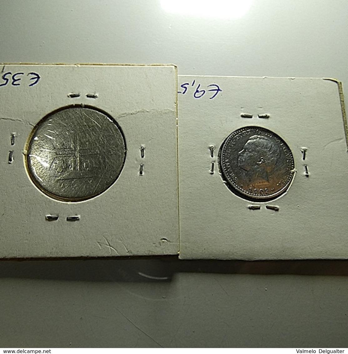 Portugal 2 Silver Coins Bad Grade Monarchy - Munten & Bankbiljetten