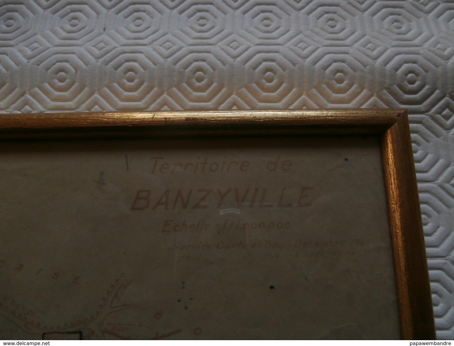 Carte Du Territoire De Banzyville (1948) Congo,  Mobayi-Mbongo) 35 X 21 Cm - Geographische Kaarten