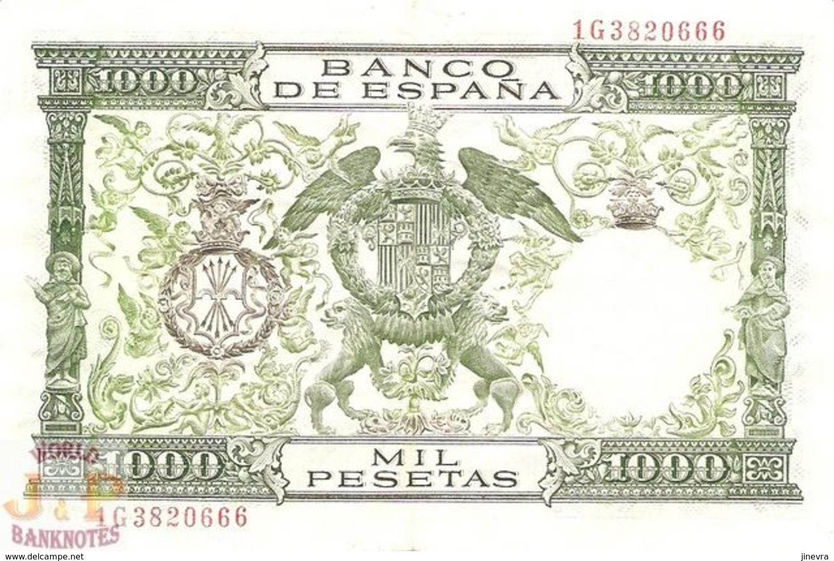 SPAIN 1000 PESETAS 1957 PICK 149a XF - [ 3] 1936-1975: Regime Van Franco