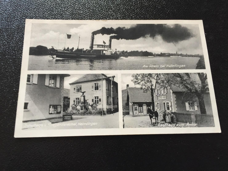 Am Rhein Bei HELMLINGEN Bei RHEINAU  U.a. Gasthaus ZUM ANKER  1940 - Autres