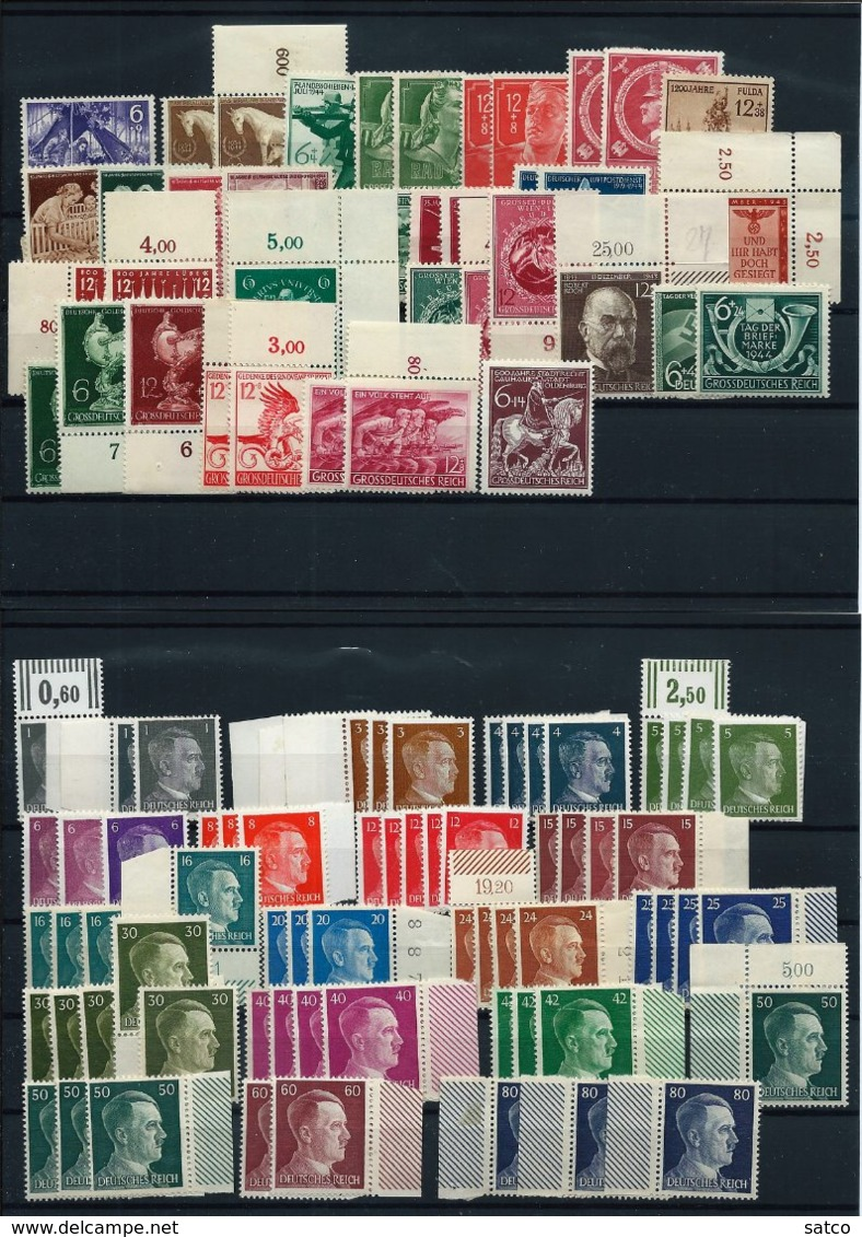 Germany , German Empire , Bigger Party Of Mint Stamps On 4 Big Stock-cards (as Per Scans) MNH - Deutschland