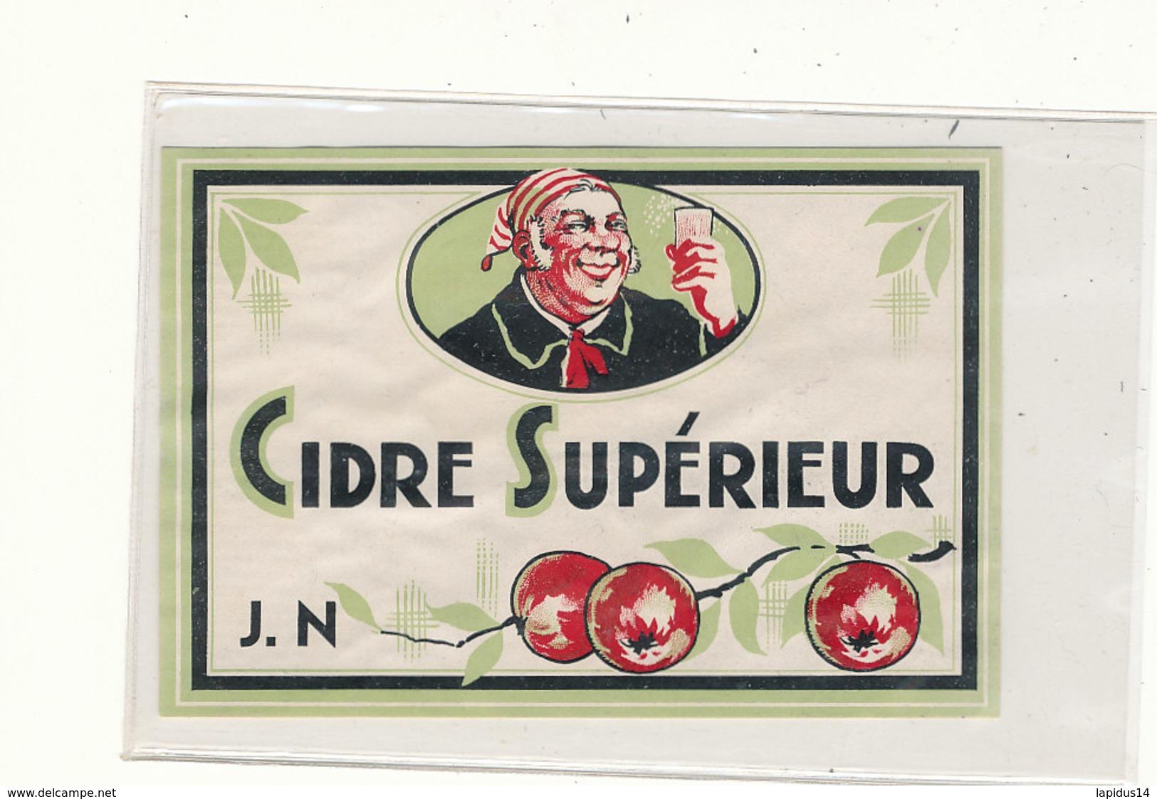 547 / ETIQUETTE -  CIDRE SUPERIEUR J N. - Labels