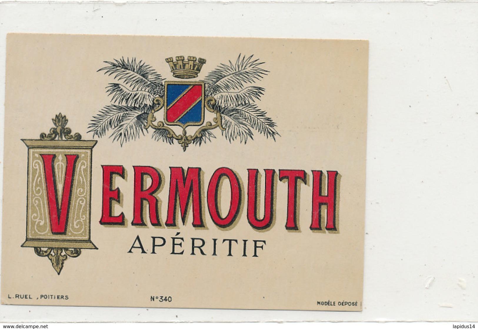 AN 669 / ETIQUETTE     VERMOUTH APERITIF   N° 340 - Unclassified