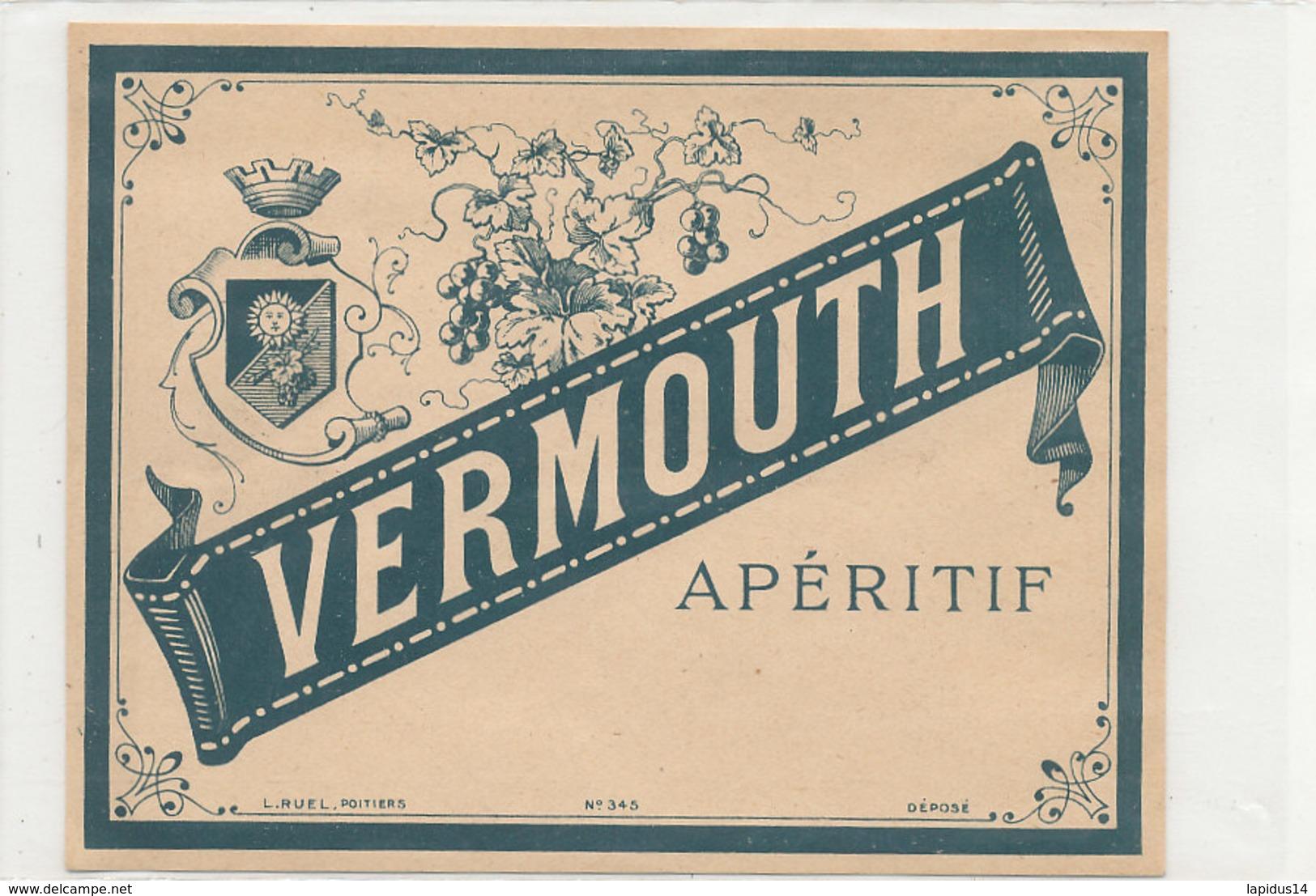 AN 673 / ETIQUETTE     VERMOUTH APERITIF     N° 345 - Unclassified