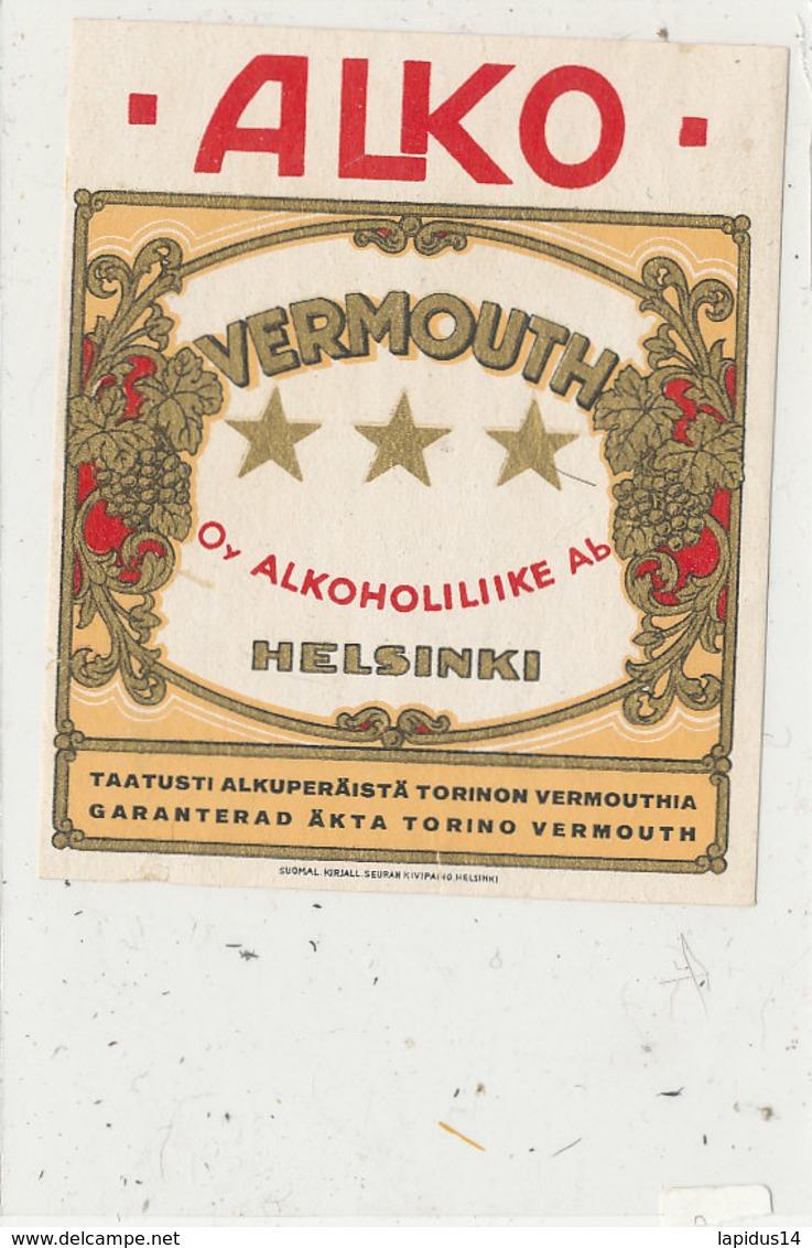 AN 678 / ETIQUETTE     VERMOUTH  ALKO  HELSINKI - Labels