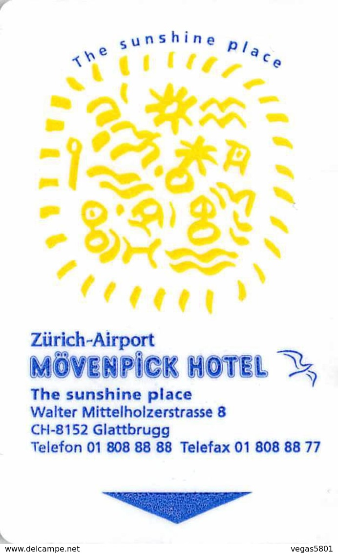 MÖVENPICK, Zürich-Airport Switzerland - Hotel Room Key Card, Hotelkarte, Schlüsselkarte, Clé De L'Hôtel - Hotelkarten