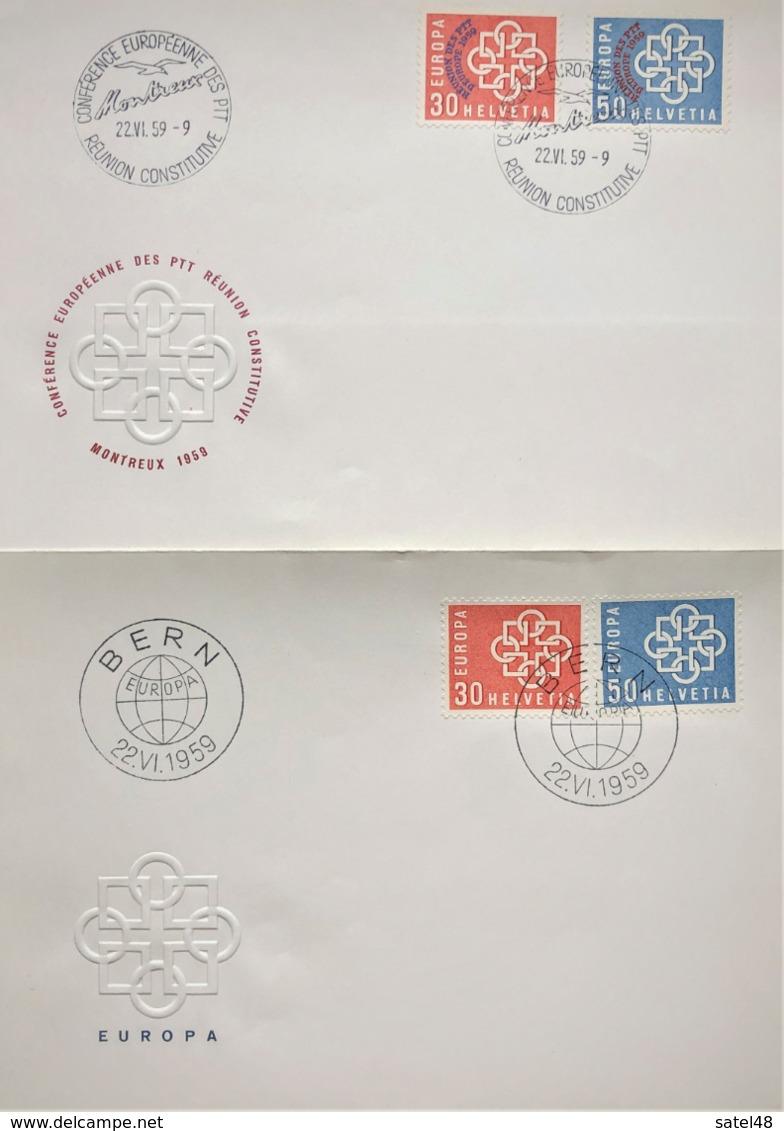 SOBRES POSTALES TEMA EUROPA,AÑO 1959, SUIZA,CONFERENCIA MONTREUX, LOS DE LA FOTO - Sonstige - Europa