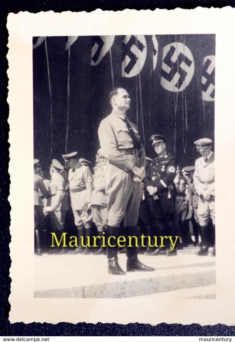 Photo , Hitler , Hess , Rudolf Hess ,  W2 , Reich , Foto  , Wehrmacht , Wk2 , WwII , Nuremberg , Nürenberg . - Plaatsen