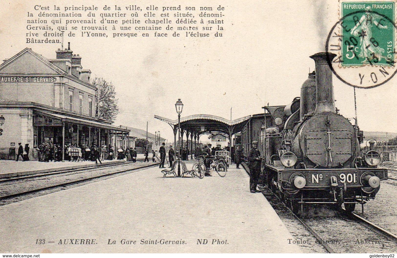 89 Auxerre, La Gare Saint Gervais, Train - Auxerre