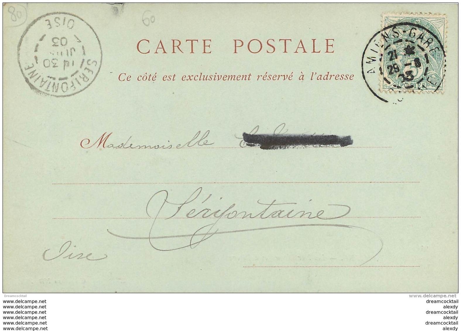 80 AMIENS. Hortillonnages à Rivery 1903 - Amiens