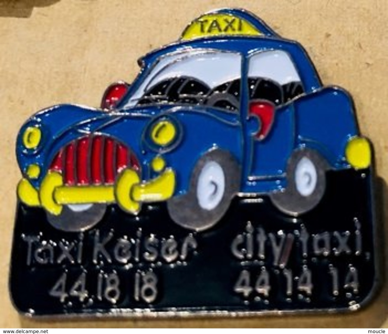 TAXI BLEU - TAXI KEISER - 44 18 18 - CITY TAXI - 44 14 14 - VOITURE - BLUE CAR -        (21) - Pins