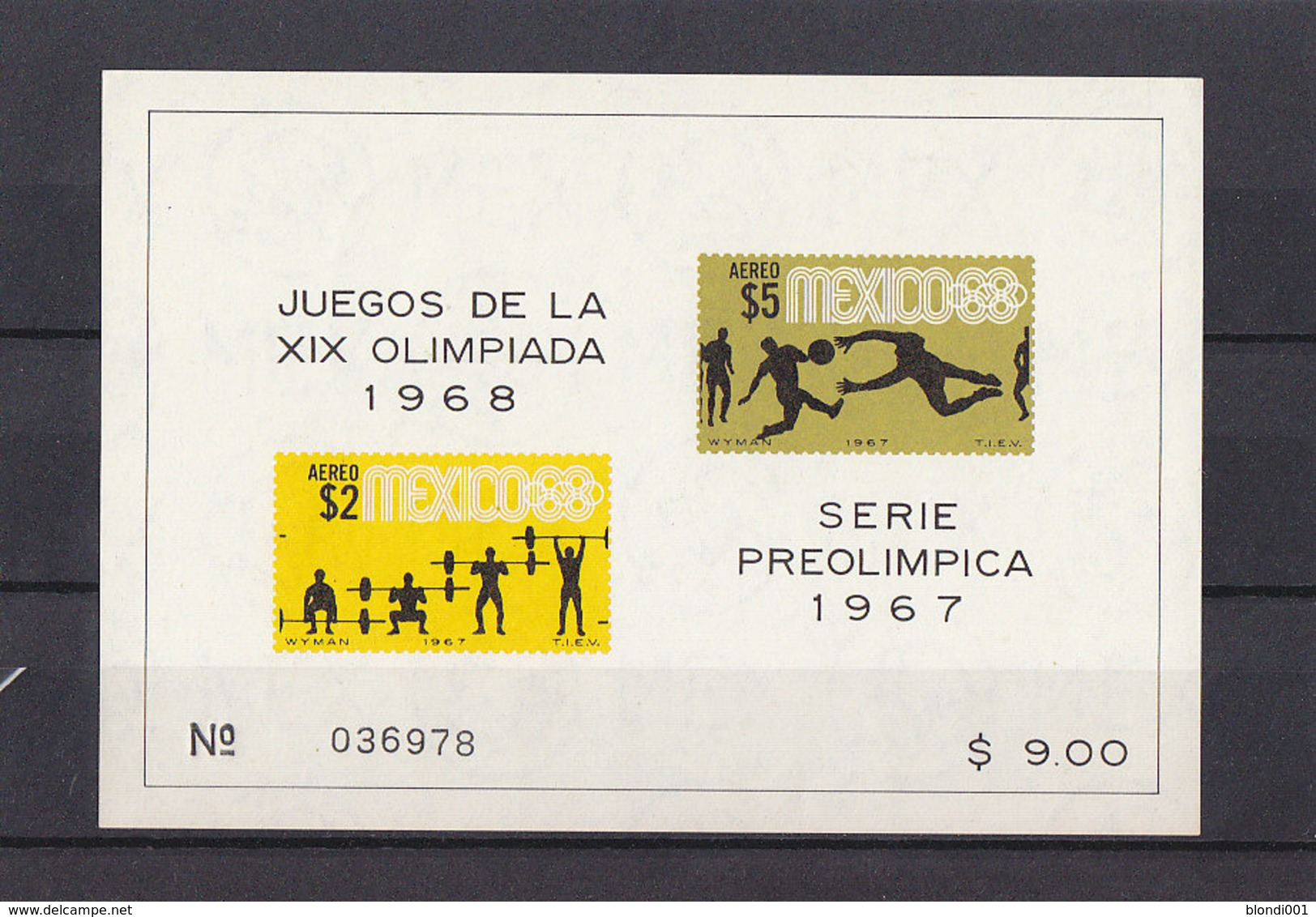 Olympics 1968 - Soccer - Weightlifting - MEXICO - S/S Imperf. MNH - Sommer 1968: Mexico