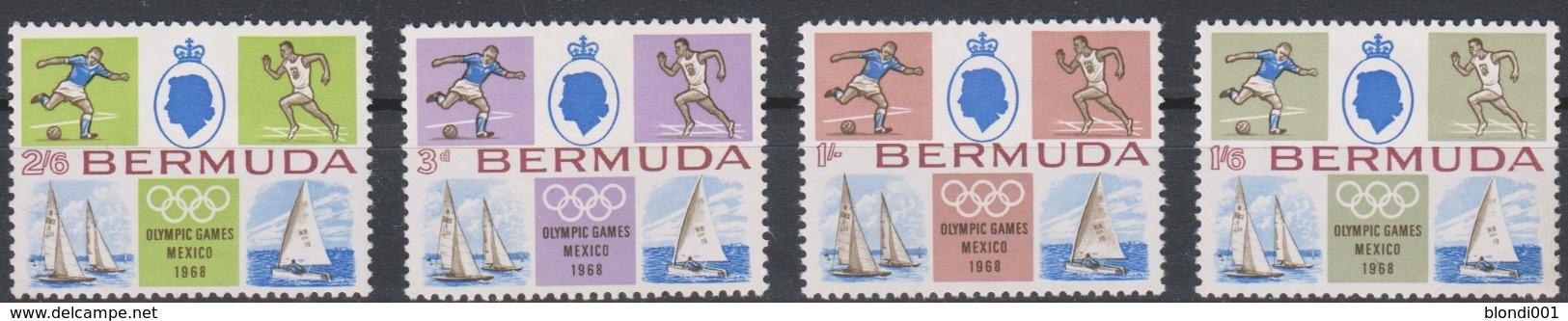 Olympics 1968 - Soccer - Sailing - BERMUDA - Set 4v MNH - Zomer 1968: Mexico-City