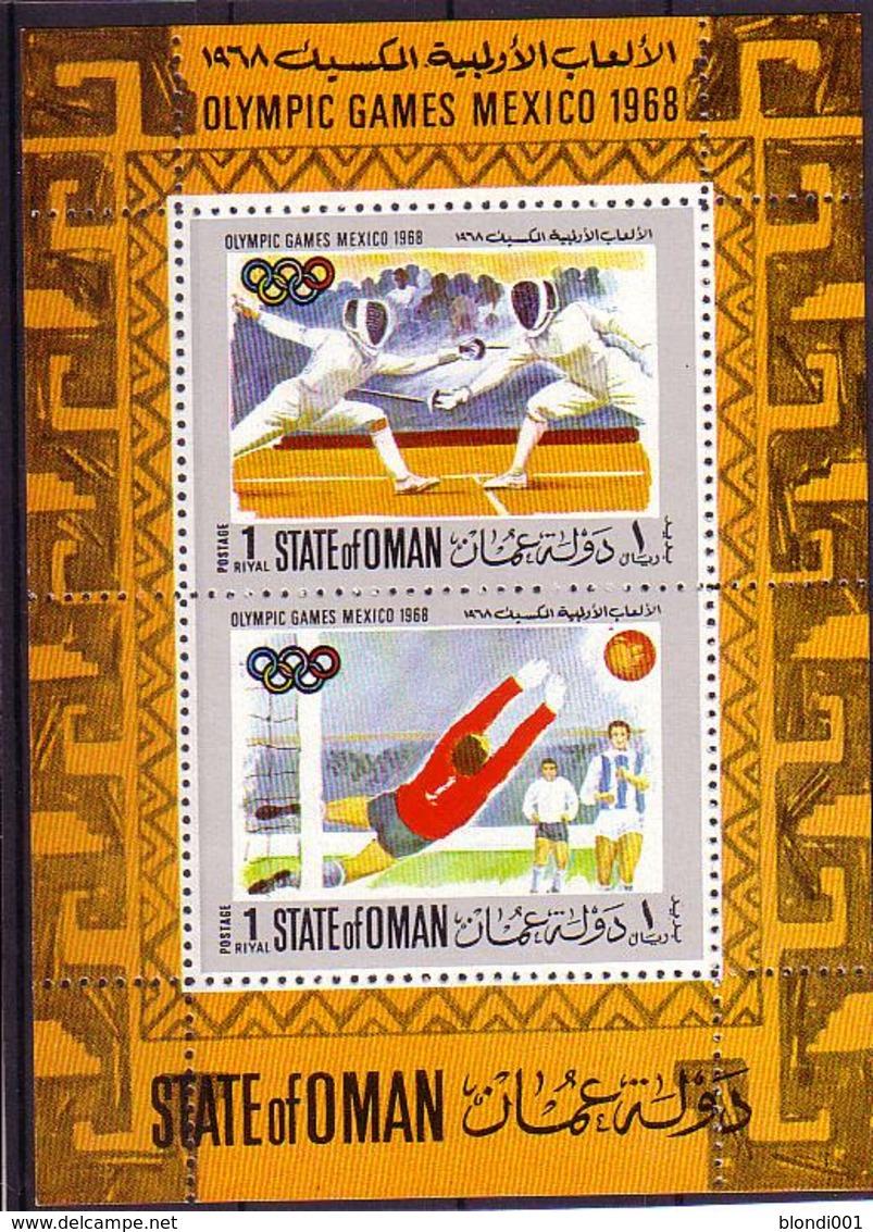 Olympics 1968 - Soccer - Fencing - OMAN - S/S MNH - Zomer 1968: Mexico-City