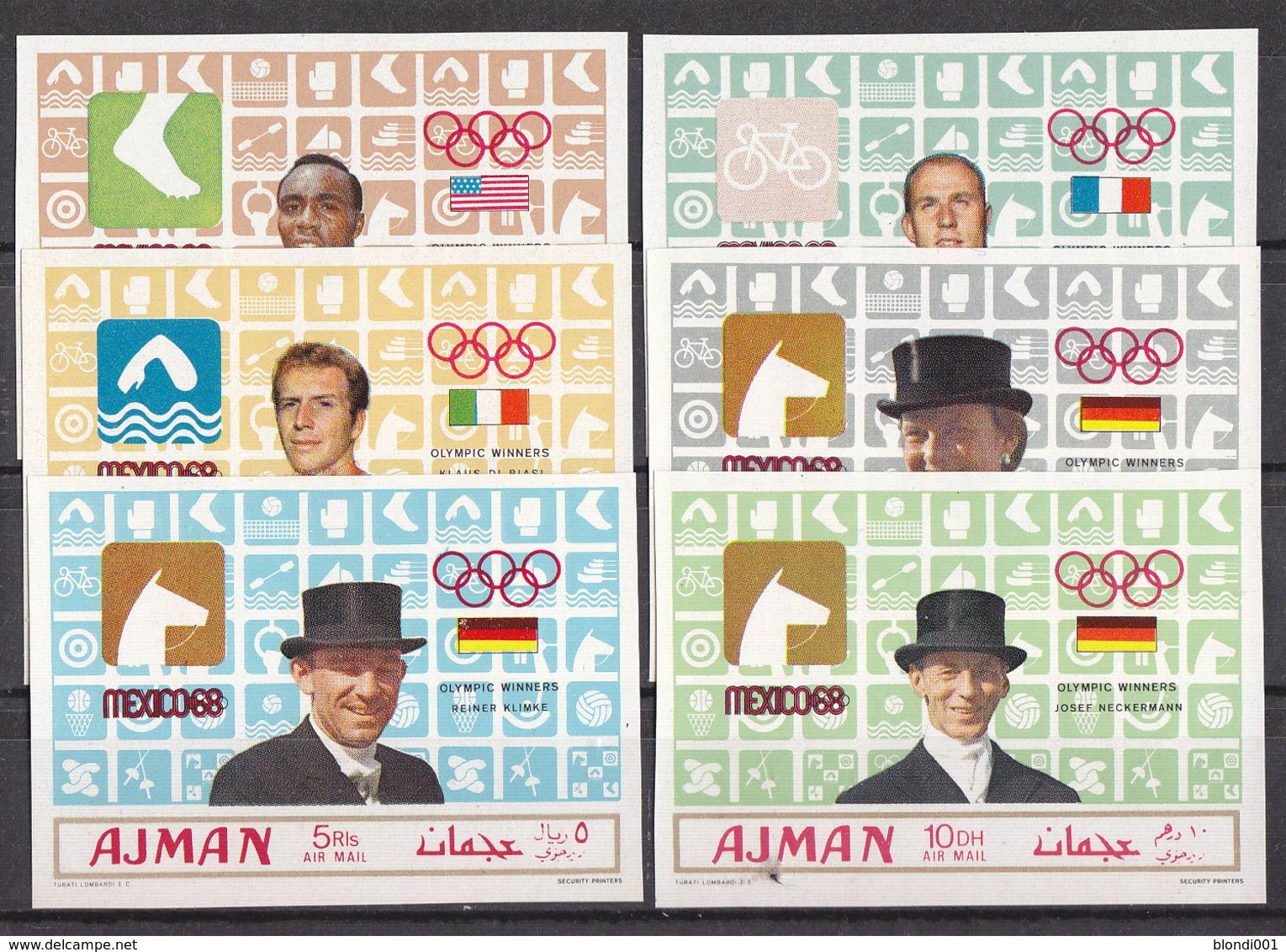 Olympics 1968 - Cycling - Winner - AJMAN - Set Imp. MNH - Sommer 1968: Mexico