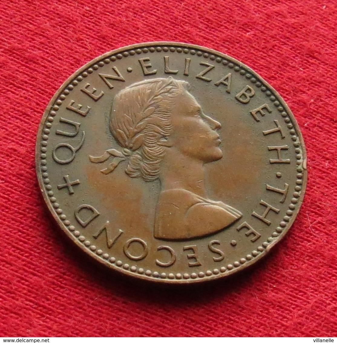 New Zealand 1/2 Half Penny 1958  Nova Zelandia Nuova Zelanda Nouvelle Zelande #2 Wº - Nueva Zelanda