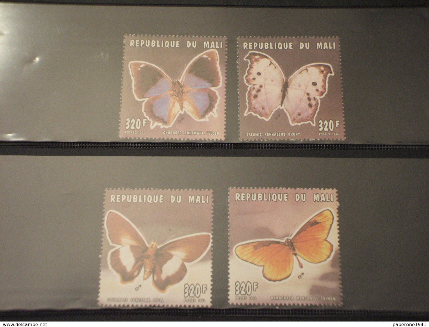 MALI - 1996 FARFALLE 4 VALORI -  NUOVI(++) - Mali (1959-...)