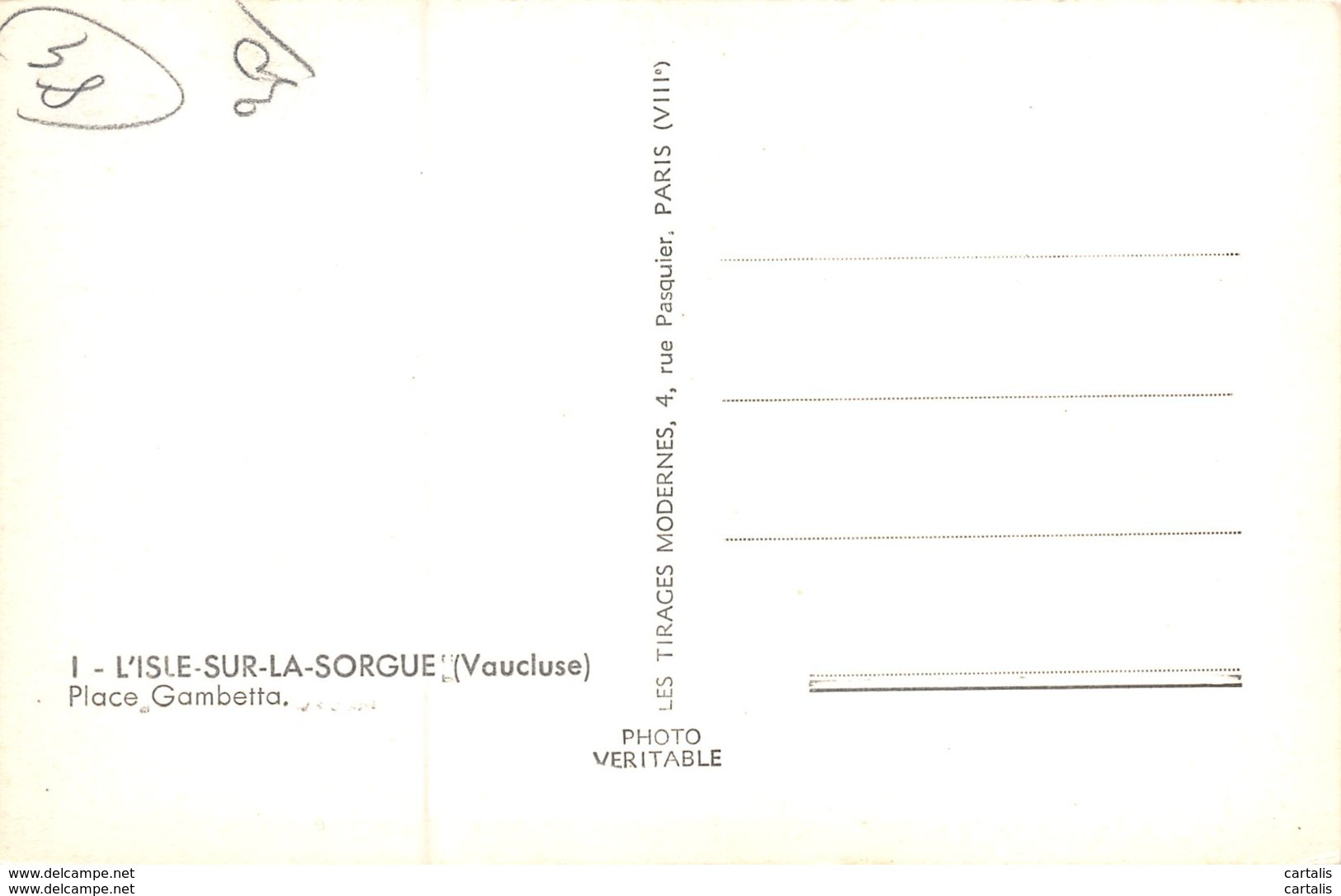 84-L ISLE SUR LA SORGUE-N°C-3310-E/0087 - L'Isle Sur Sorgue