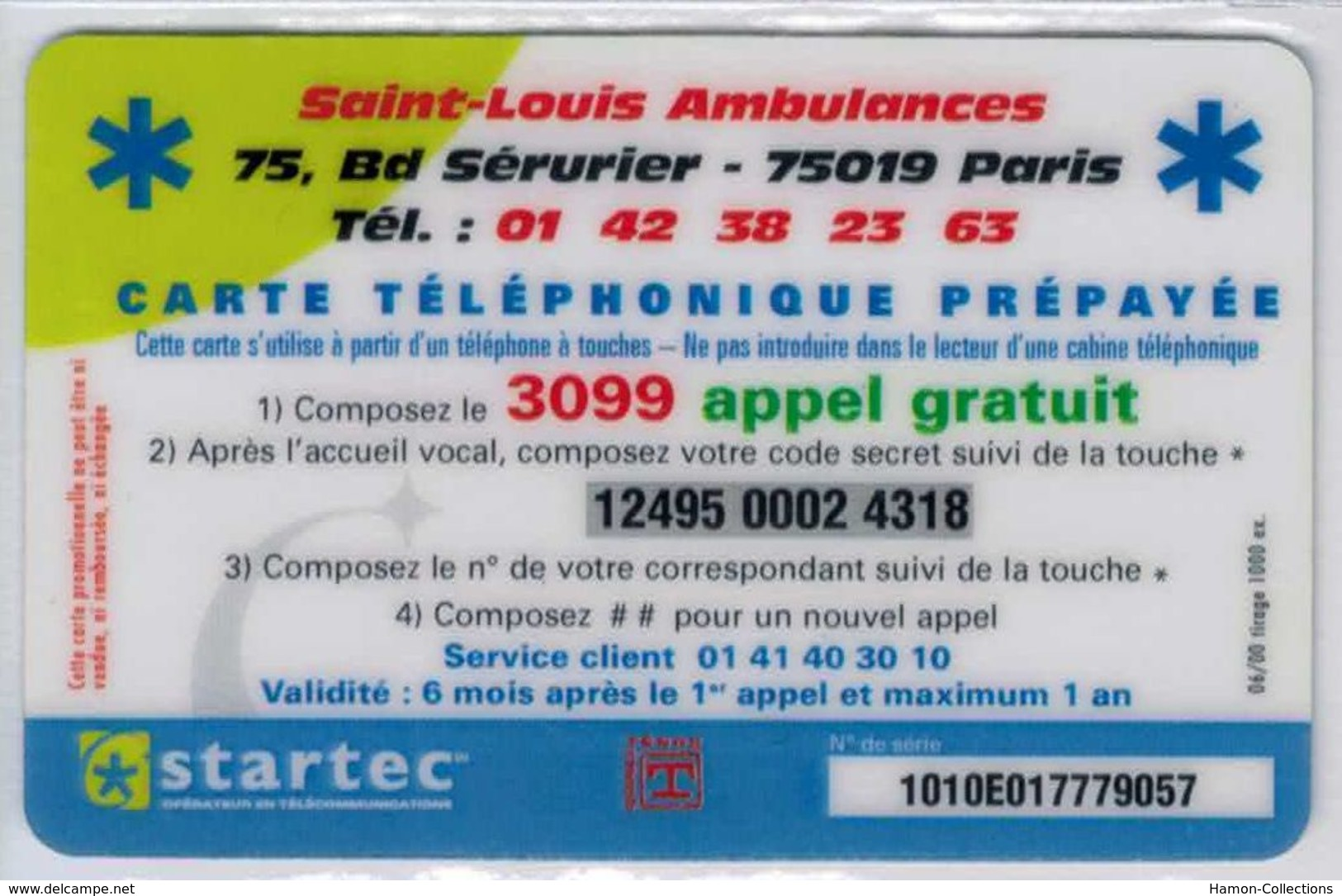 TOP COLLECTION  - Carte Prépayée Française - STARTEC - Voir Scans - Frankrijk
