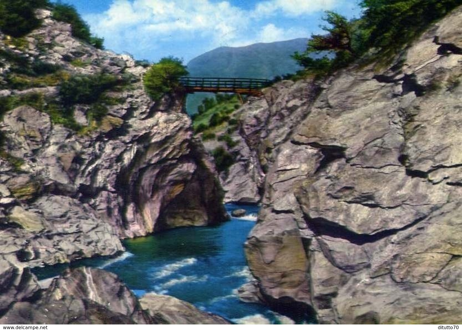 Valle D'aosta - St. Vincent - Ponte Delle Capre E Dora Baltea - Formato Grande Viaggiata – E 14 - Unclassified