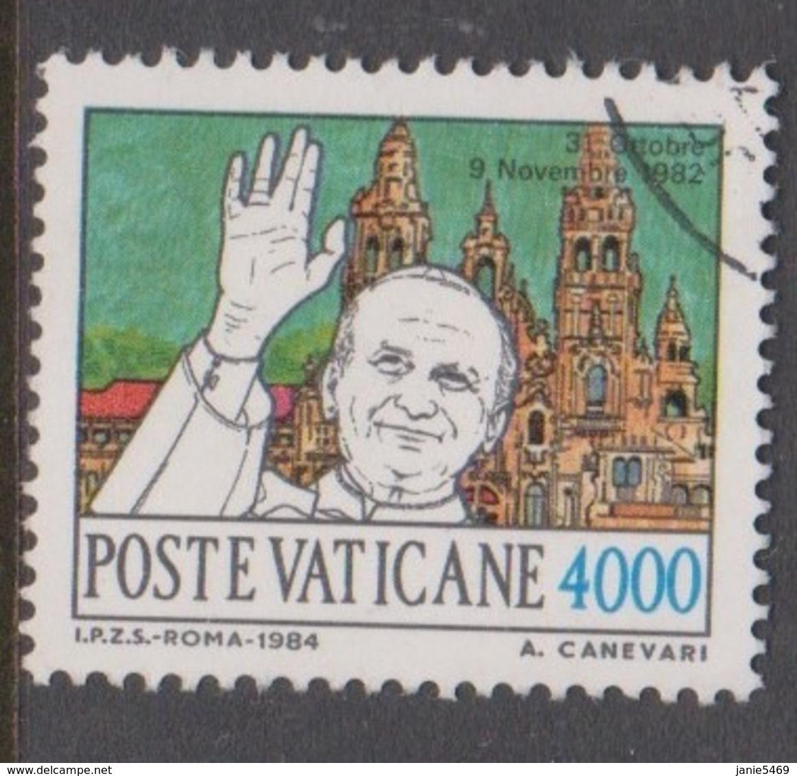 Vatican City S 779 1984 Journeys Of Pope John Paul II ,4000 Lire Used - Vaticano (Ciudad Del)