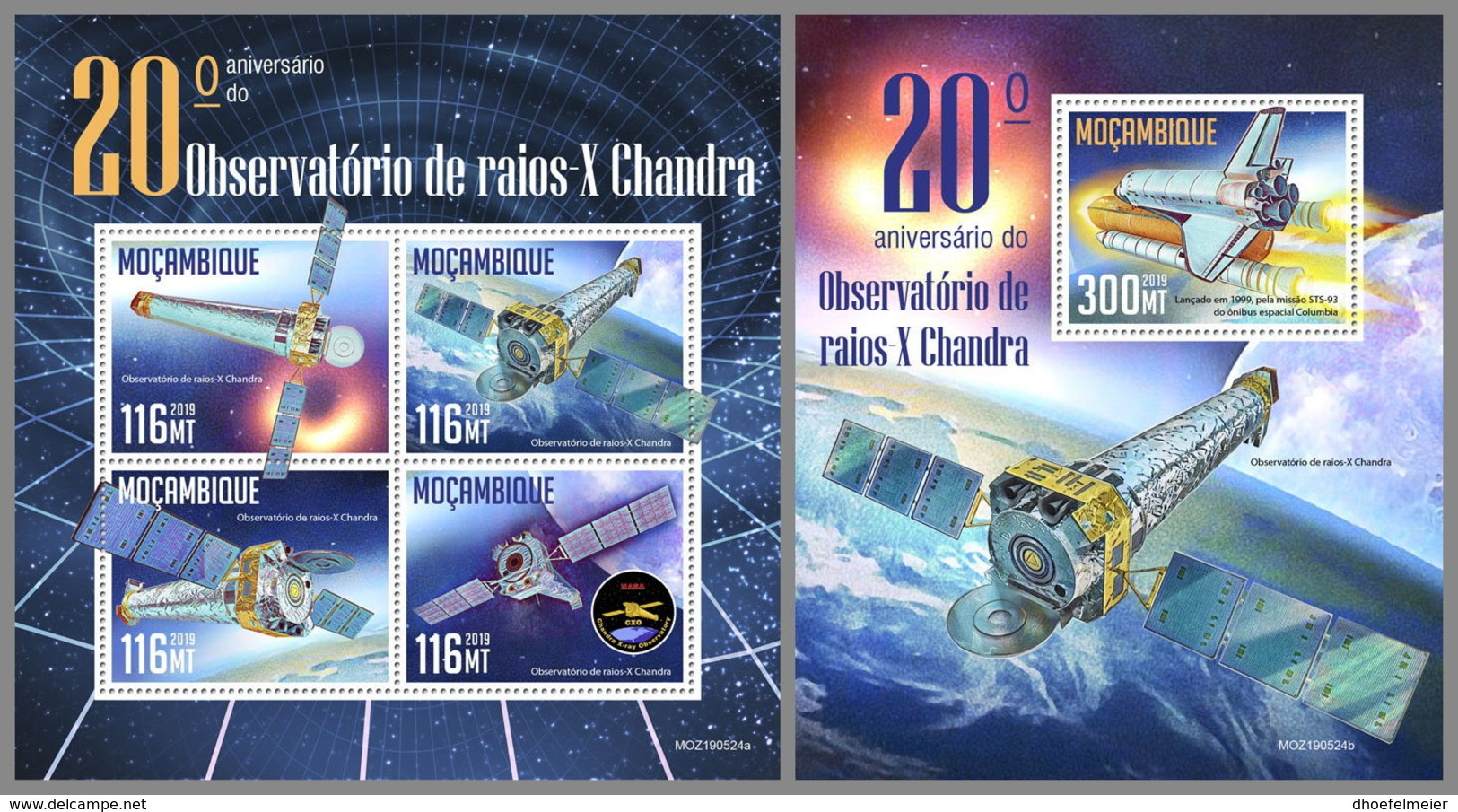 MOZAMBIQUE 2019 MNH Chandra X-Ray Observatory Space Raumfahrt Espace M/S+S/S - OFFICIAL ISSUE - DH1945 - Afrika